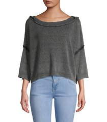 cropped cotton blend sweater
