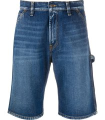 msgm multi-pocket denim shorts - blue