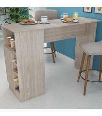 bancada de cozinha masters 1 porta gourmet com adega nogueira - pnr móveis