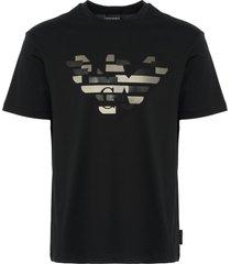 distorted logo t-shirt - nero 6z1tf7-1j30z