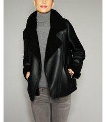 the fur vault shearling lamb moto jacket