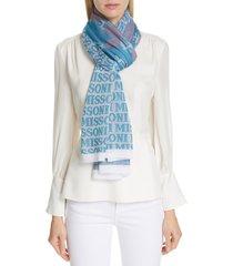 women's missoni logo scarf