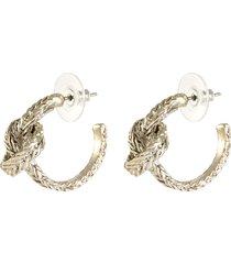 small braided knot hoop earrings