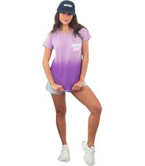 blusa in love t-shirt amor de verã£o lilas - lilã¡s - feminino - algodã£o - dafiti