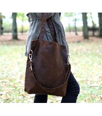 brązowa torba z zamszu ekologicznego