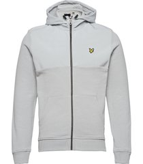 softshell jersey zip hoodie hoodie trui grijs lyle & scott