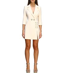 elisabetta franchi dress elisabetta franchi double-breasted dress with criss cross