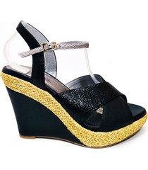 zapato tacon femenino 3869 vaporiano negro*venecia negro