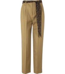 saint laurent belted trousers