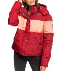 women's roxy out of focus hooded puffer jacket