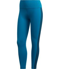 legging adidas 7/8 believe this 2.0 3-stripes azul - azul - feminino - dafiti