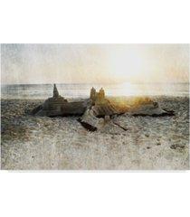 "sharon chandler sand castle i canvas art - 37"" x 49"""