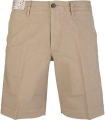 beige cotton man bermuda shorts
