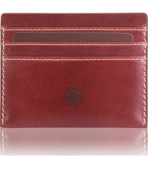 jekyll & hide texas compact card holder - red  3628tere