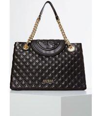 pikowana torba charlize typu shopper z logo 4g