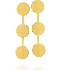 brinco dona diva semi joias maxi circulos dourado