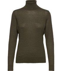 felina knit t-neck turtleneck polotröja grön second female