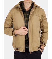 winter casual plus size addensato in pile giacca imbottita con cappuccio in cotone con cerniera pulsanti
