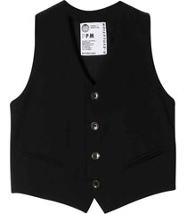 paolo pecora black vest