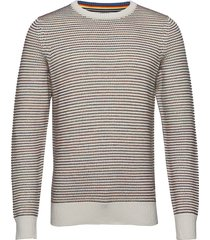 pullover stickad tröja m. rund krage multi/mönstrad marc o'polo