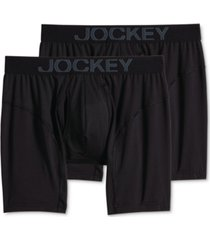 jockey men's 2-pk. rapidcool boxer briefs