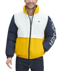 tommy hilfiger men's nylon taslan retro puffer jacket
