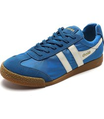 tenis lifestyle azul gola harrier nylon
