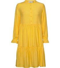 dhnapoli dress korte jurk geel denim hunter