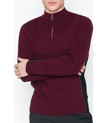 topman burgundy side panel zip jumper tröjor burgundy