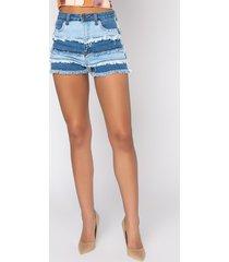 akira throw it back patchwork high rise jean shorts