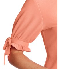 cece tie-sleeve button-front top
