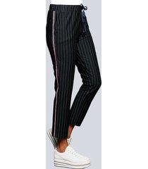 broek alba moda marine::wit