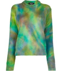dsquared2 tie-dye print jumper - green