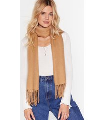 womens that ain't the scarf of it fringed scarf - tan