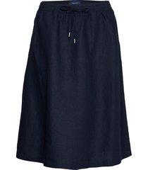d2. summer linen skirt knälång kjol blå gant