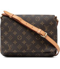 louis vuitton 2001 pre-owned musette tango shoulder bag - brown