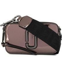 marc jacobs bolsa mini com logo 3d - prateado