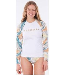 camiseta de lycra rip curl tropic schak feminina - feminino