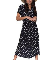 dalia daisy shortsleeve maxi shirt dress