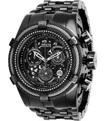 reloj invicta gris oscuro modelo 272ck para hombres, colección reserve