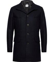 kali wool coat wollen jas lange jas blauw j. lindeberg