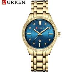 reloj de cuarzo para mujer curren / 9010-azul