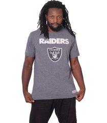 camiseta mitchell & ness bã¡sica estampada oakland raiders cinza - cinza - masculino - dafiti