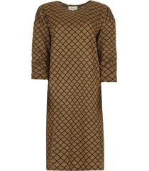 jurk met lurex ruth  bruin