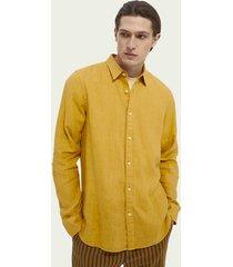 scotch & soda garment-dyed  overhemd