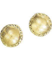 14k yellow gold satin stud earrings