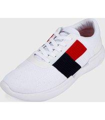 tenis blanco-rojo-azul tommy hilfiger