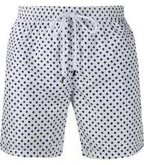 barba mid length swimming trunks - blue