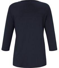 shirt 3/4-mouwen en dubbele voorkant van anna aura blauw