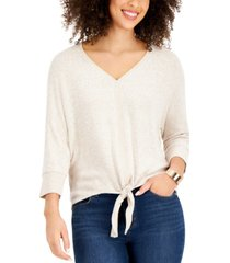 style & co tie-front top, created for macy's